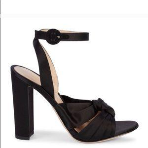 Gianvito Rossi Knot Silk ankle strap sandal